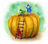 横浜シュタイナー幼稚園・かぼちゃの絵